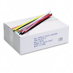 "Jumbo Stems 12"" x 6mm Metal Wire Polyester Assorted Box of 1000 (CKC911001)"
