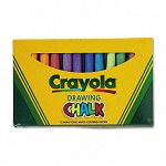 Colored Drawing Chalk Assorted Colors 12 SticksSet (CYO510403)