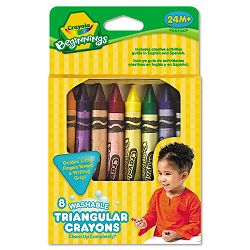 Beginnings Washable Triangular Crayons Wax 8Box (CYO52008T)