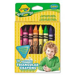 Beginnings Washable Triangular Crayons Wax 16Box (CYO52016T)