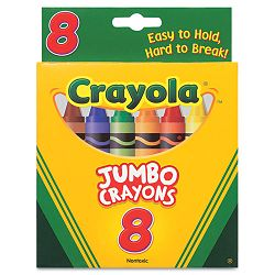 "So Big Crayons Large Size 5"" x 916"" 8 Assorted Color Set (CYO520389)"
