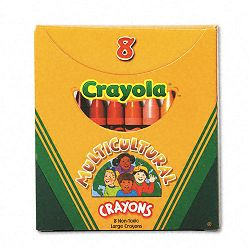 Multicultural Crayons 8 Skin Tone ColorsBox (CYO52080W)