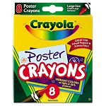 Poster Crayons Assorted Pack of 8 (CYO523283)