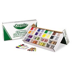 Classpack Crayons with Markers 8 Colors 128 Each CrayonsMarkers Box of 256 (CYO523348)