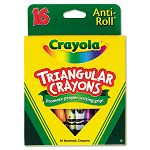 Triangular Crayons Assorted Box of 16 (CYO524016)