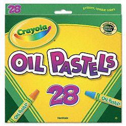 Oil Pastels 28-Color Set Assorted Pack of 28 (CYO524628)