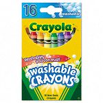 Washable Crayons Regular 8 Colors Box of 16 (CYO526916)