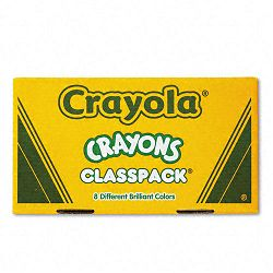 Classpack Regular Crayons 50 Each of 8 Colors Box of 400 (CYO528038)