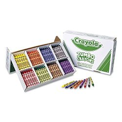 Jumbo Classpack Crayons 25 Each of 8 Colors Box of 200 (CYO528389)