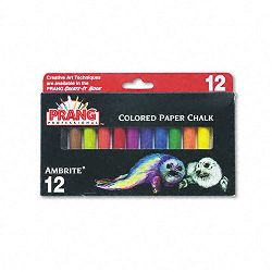 Ambrite Paper Chalk Assorted Colors 12 SticksSet (DIX53012)