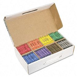 Crayons Made with Soy 100 Each of 8 Colors Box of 800 (DIX32350)