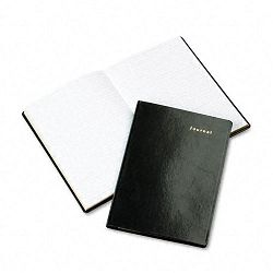 "Bonded Leather Journal Black 160 Gold-Edged Pages 5 12"" x 7 34"" (DTM12001A)"