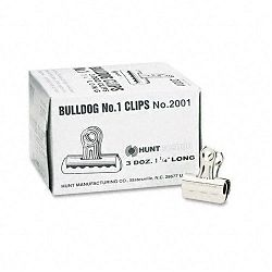 "Bulldog Clips Steel 716"" Capacity 1-14""w Nickel-Plated Box of 36 (EPI2001)"