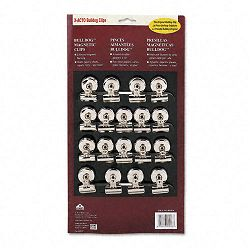 "Bulldog Magnetic Clips Steel 1-14""w Nickel-Plated Box of 18 (EPI2026)"