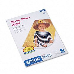 "Glossy Photo Paper 60 lbs. Glossy 8-12"" x 11"" 20 SheetsPack (EPSS041141)"