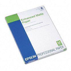 "Ultra Premium Matte Presentation Paper 8-12"" x 11"" White Pack of 50 (EPSS041341)"