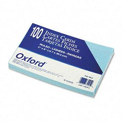 "Ruled Index Cards 5"" x 8"" Blue Pack of 100 (ESS7521BLU)"