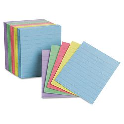 "Ruled Mini Index Cards 3"" x 2 12"" Assorted Pack of 200 (ESS10010)"