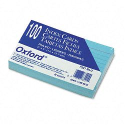 "Ruled Index Cards 3"" x 5"" Blue Pack of 100 (ESS7321BLU)"