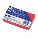"Ruled Index Cards 3"" x 5"" Cherry Pack of 100 (ESS7321CHE)"