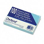 "Unruled Index Cards 4"" x 6"" Blue Pack of 100 (ESS7420BLU)"