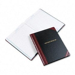"Visitor Register Book BlackRed Hardcover 150 Pages 14 18"" x 10 78"" (ESS806)"