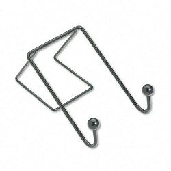 "Partition Additions Wire Double-Garment Hook 4"" x 6"" Black (FEL75510)"
