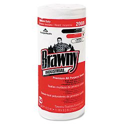 "Brawny All Purpose Perforated Dry Wipes 11"" x 9-38"" White 84Roll Carton of 20 (GEP20085)"