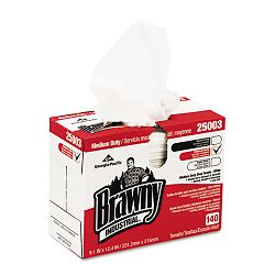 "Brawny Industrial Medium Duty Shop Towels 9 110"" x 12 25"" Box of 140 (GEP25003)"