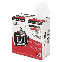 "Brawny Industrial Heavy Duty Shop Towels Cloth 9-18"" x 16-12"" Box of 100 (GEP25070)"