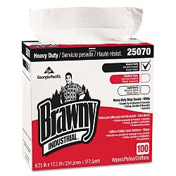 "Brawny Industrial Heavy Duty Shop Towels 9 18"" x 16 12"" Box of 100 Carton of 5 (GEP25070CT)"