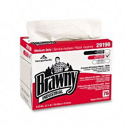 "Brawny Industrial Airlaid Medium-Duty Wipers Cloth 9 14"" x 12 25"" Box of 76 (GEP2919003)"