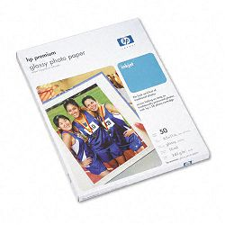 "Premium Photo Paper 64 lbs. Glossy 8-12"" x 11"" 50 SheetsPack (HEWC6979A)"