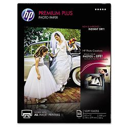 "Premium Plus Photo Paper 80 lbs. Soft-Gloss 8-12"" x 11"" 50 SheetsPack (HEWCR667A)"