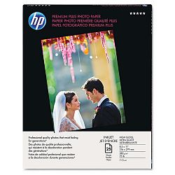 "Premium Plus Photo Paper 75 lbs. High-Gloss 8-12"" x 11"" 25 SheetsPack (HEWQ6568A)"