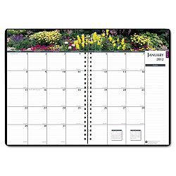 "Gardens of the World Ruled Monthly Planner 7 x 10"" Black (HOD264632)"