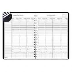 "Weekly Planner with Expense Log 8-12"" x 11"" Blue (HOD27139)"