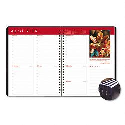"Earthscapes Executive Hardcover Weekly Appointment Book 8-12"" x 11"" Black (HOD27992)"