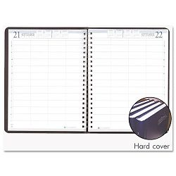 "Executive Hardcover 4-Person Group Practice Daily Appointment Book 8x11"" Black (HOD28292)"