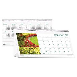 "Garden Photos Desk Tent Monthly Calendar 8-12"" x 4-12 (HOD309)"