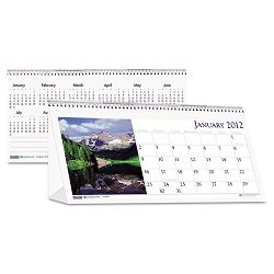 "Scenic Photos Desk Tent Monthly Calendar 8-12"" x 4-12 (HOD3649)"