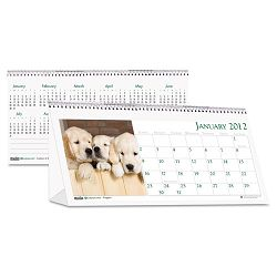 "Puppy Photos Desk Tent Monthly Calendar 8-12"" x 4-12 (HOD3659)"