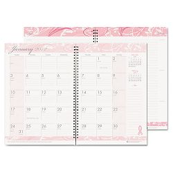 "Breast Cancer Awareness Monthly PlannerJournal 7 x 10"" Pink (HOD5226)"