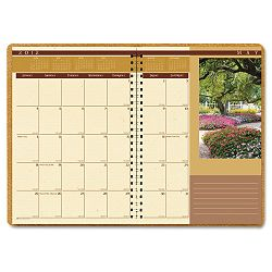 "Landscapes Full-Color Monthly Planner Ruled 8-12"" x 11"" Brown (HOD524)"