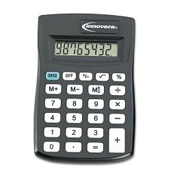 15901 Pocket Calculator Black (IVR15901)