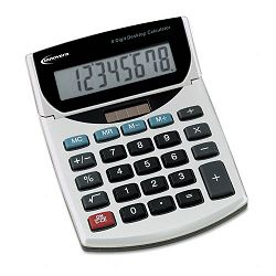 15925 Portable Minidesk Calculator 8-Digit LCD (IVR15925)