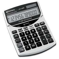 15966 Compact Desktop Calculator 12-Digit LCD (IVR15966)