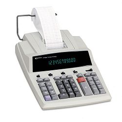 15990 Two-Color Printing Calculator 12-Digit Fluorescent BlackRed (IVR15990)