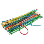 Cable Ties 6-38 Length Assorted Colors 50 TiesPack (IVR39950)