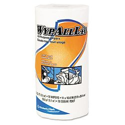 "WYPALL L40 Cloth-Like Wipes 10 25"" x 11"" White 70Roll Carton of 24 (KIM05027)"